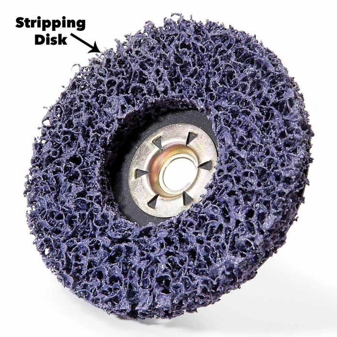 Stripping disc deck stain