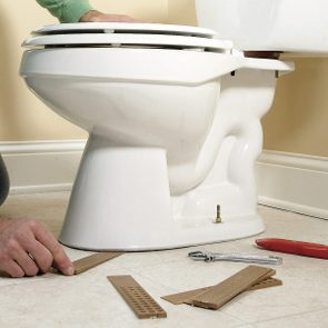 how to fix a rocking toilet