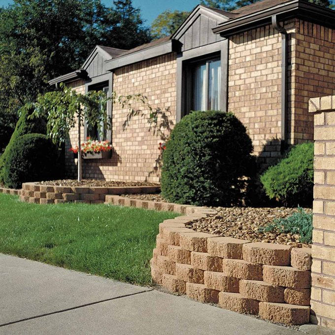 split blocks retaining wall
