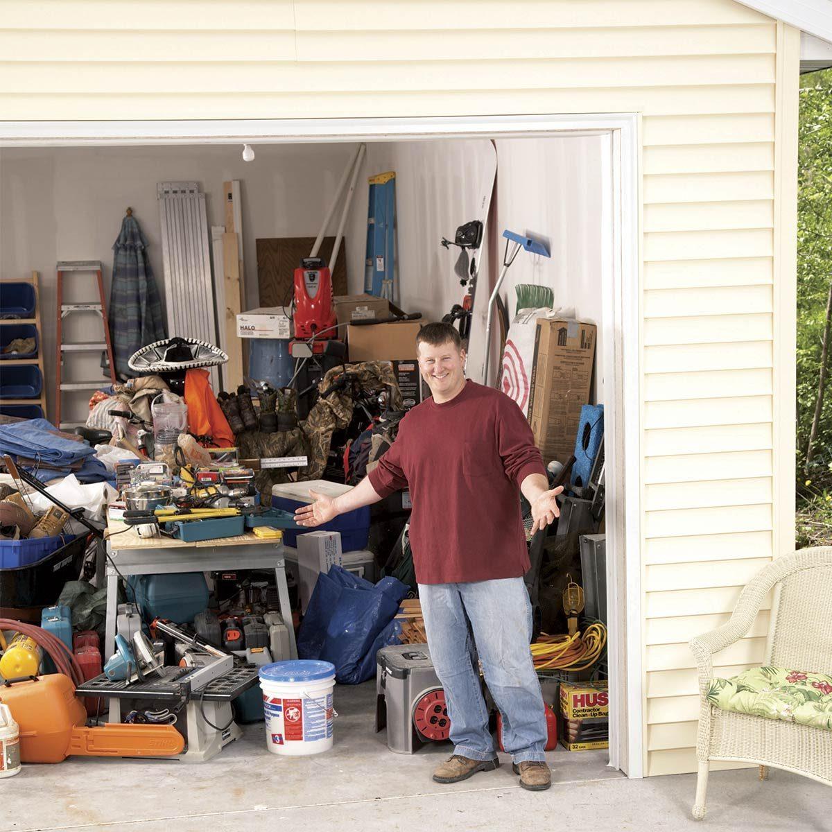 really messy garage