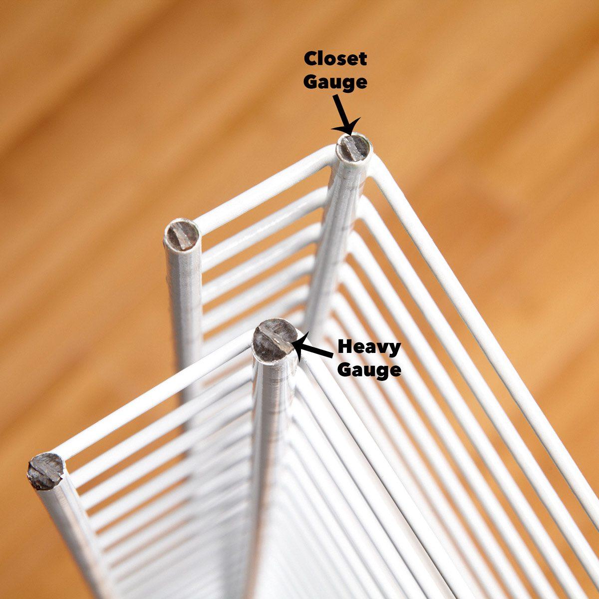 Closet gauge vs. heavy gauge wire shelves