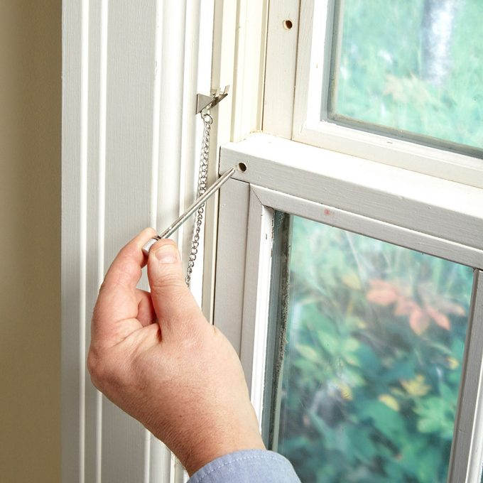 simple window lock pin hole window safety locks
