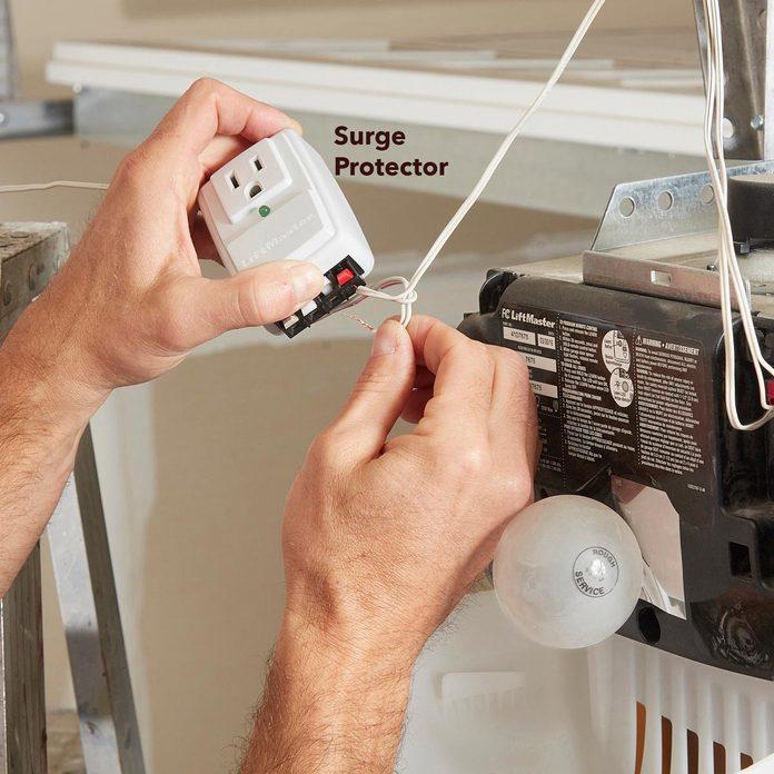 garage door opener surge protector