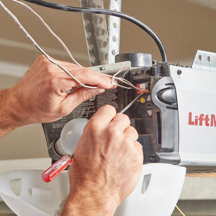 garage door openers wires