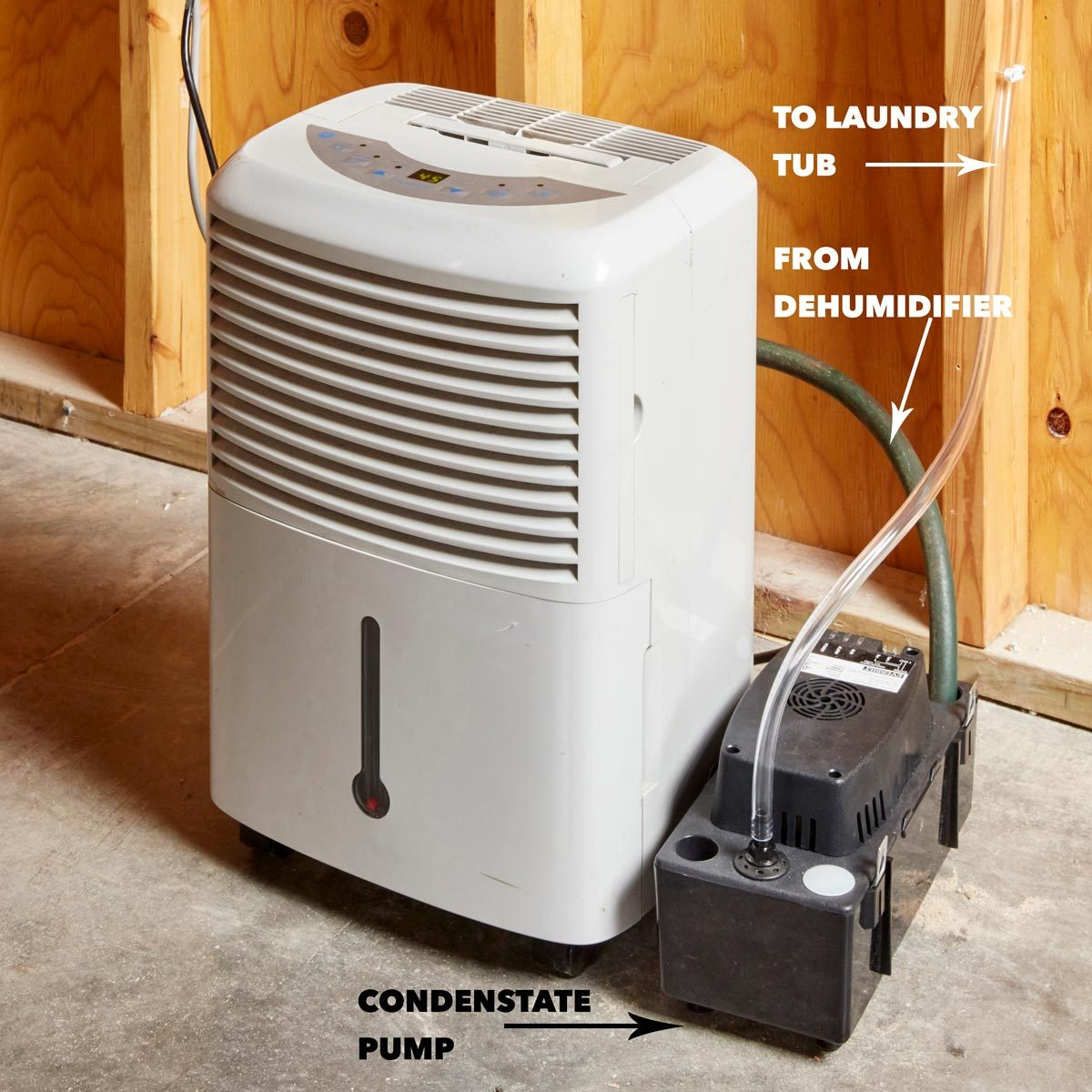 self-draining dehumidifier HH