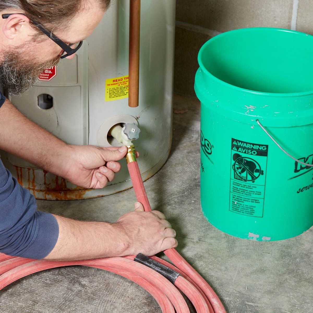 drain water in water heater