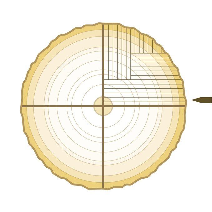 Rift sawing plywood cut veneer