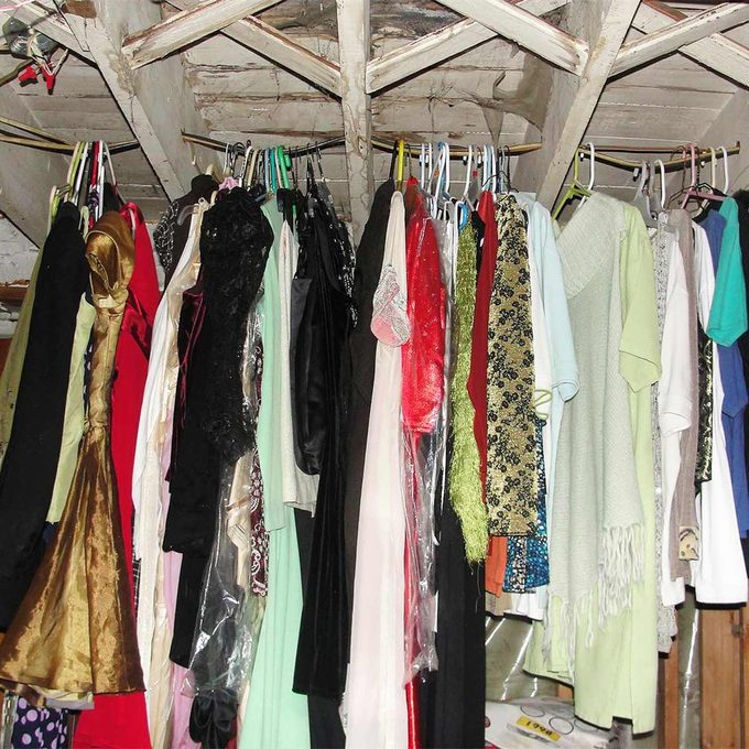 clothes hanging on electrical wires