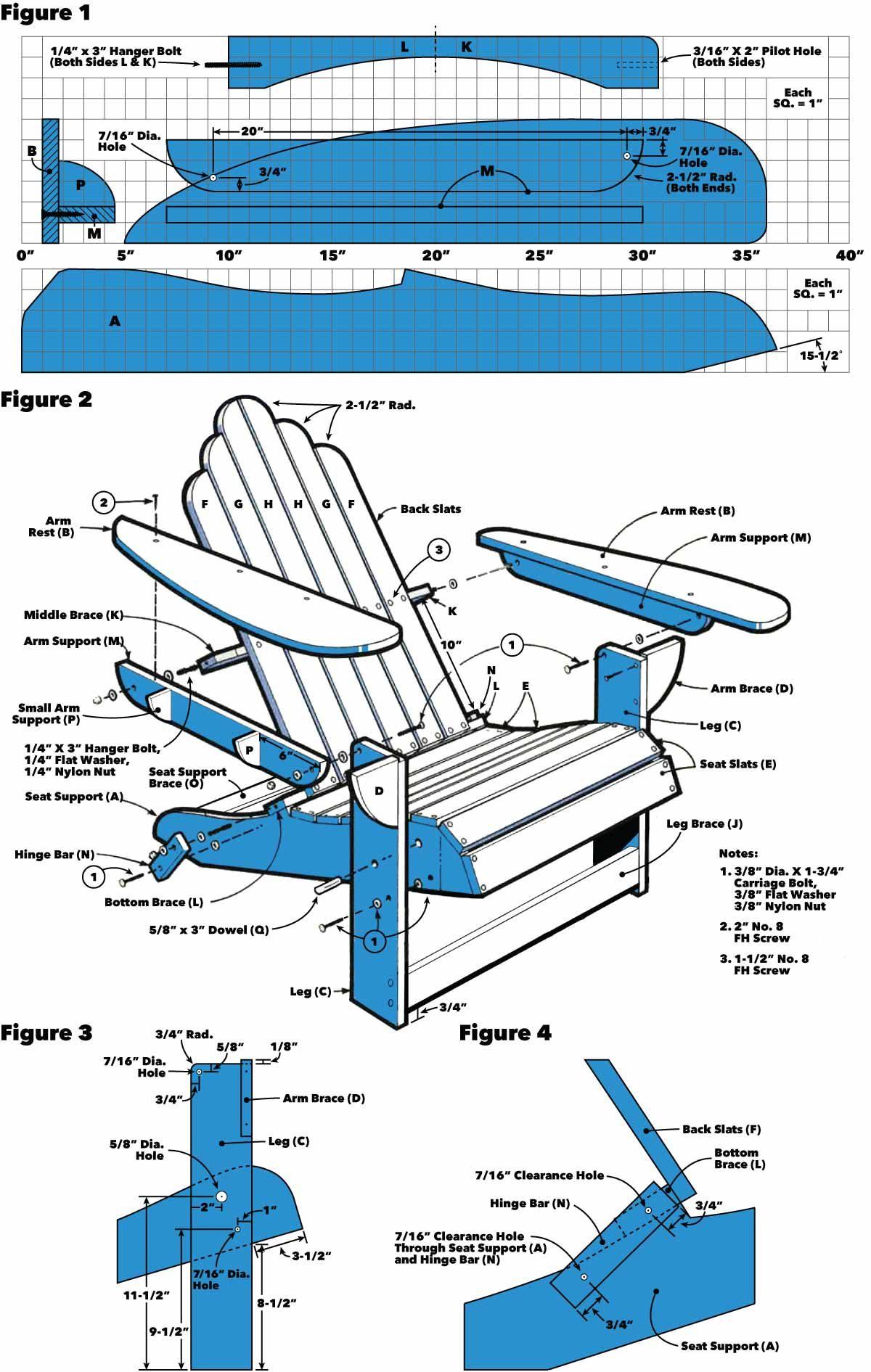 Folding Adirondack Chair Tech Art