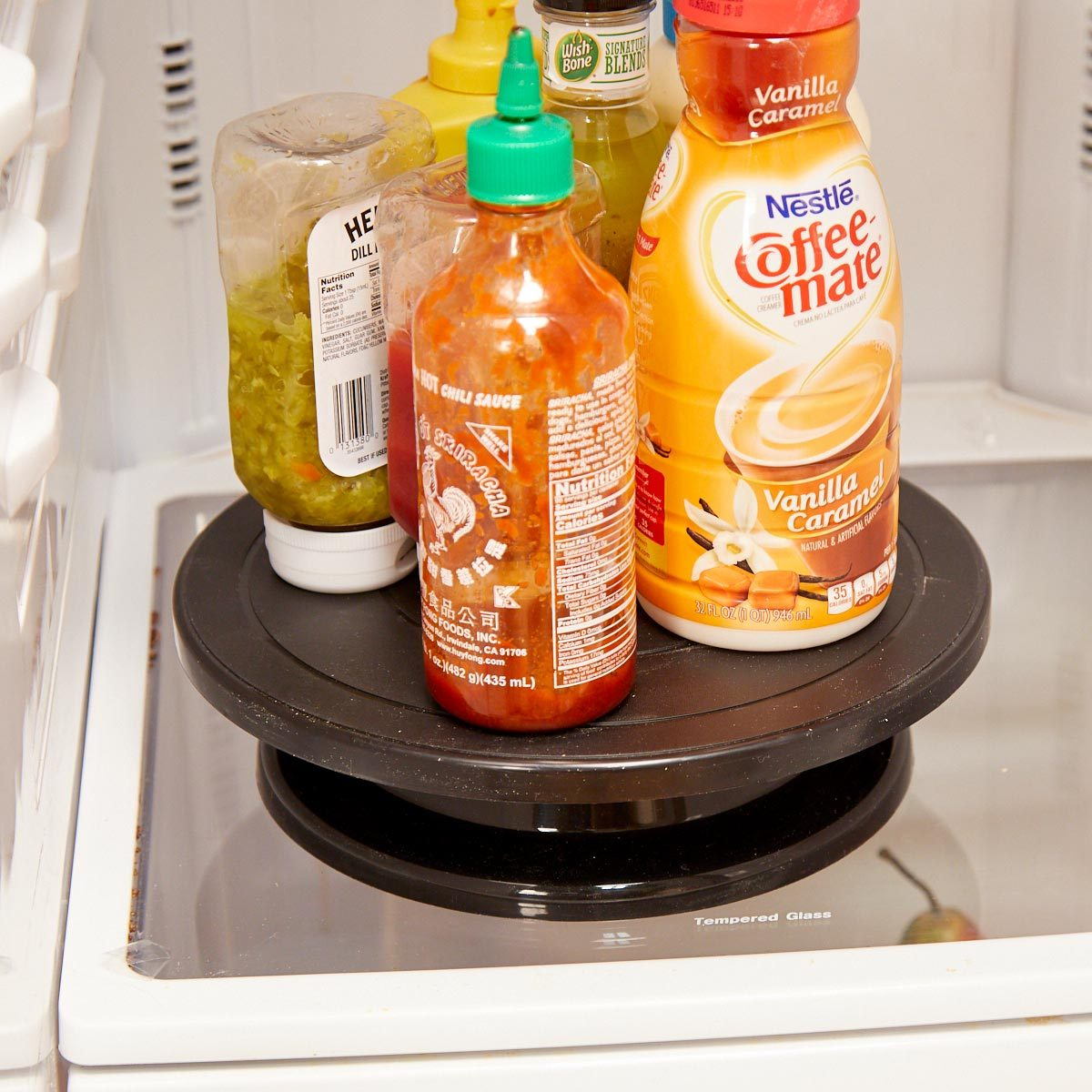 HH lazy susan fridge condiments organization