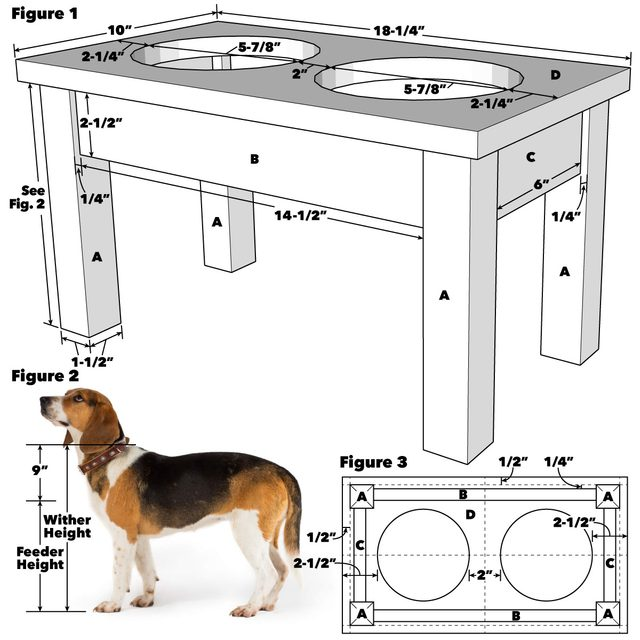 Pet Bowl Stand Tech Art