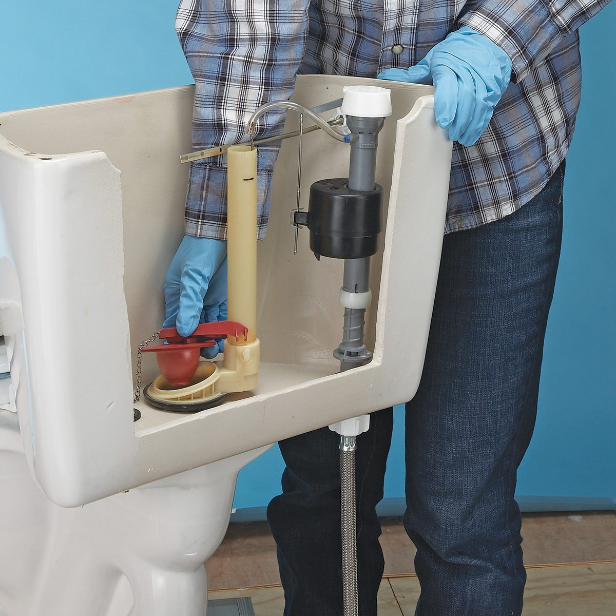 A correctly installed toilet flapper | Construction Pro Tips