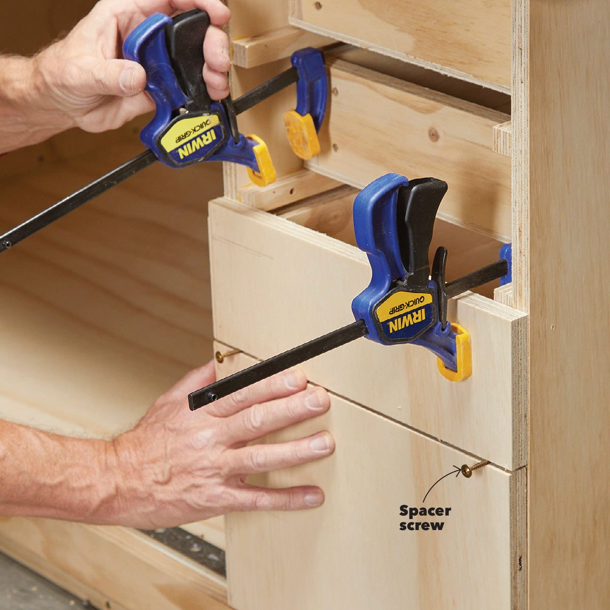 Install the drawer fronts