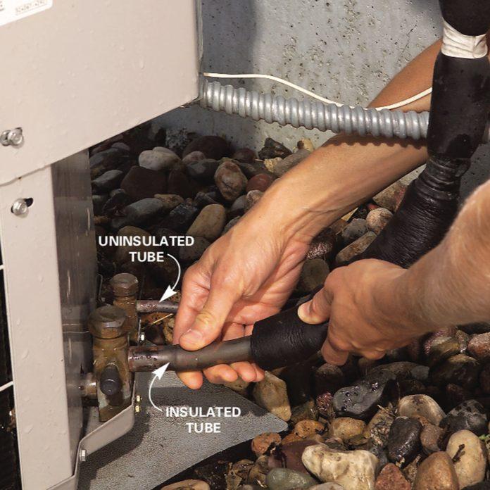 Restart the a/c condenser