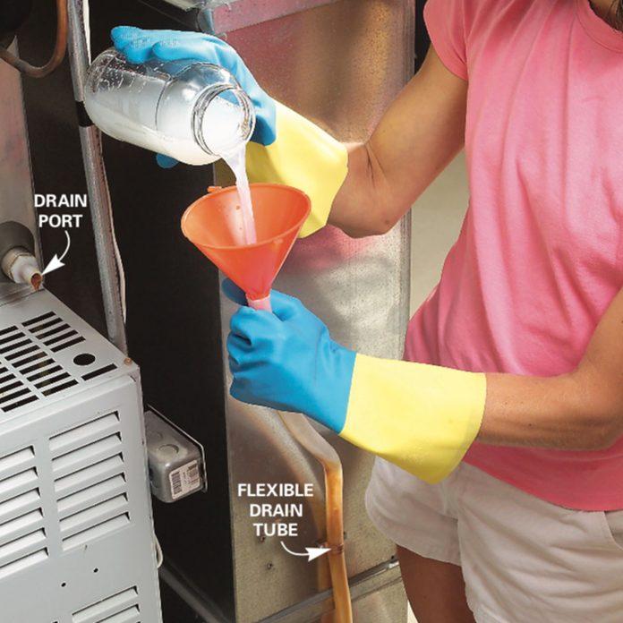 clean the condensation drain tube
