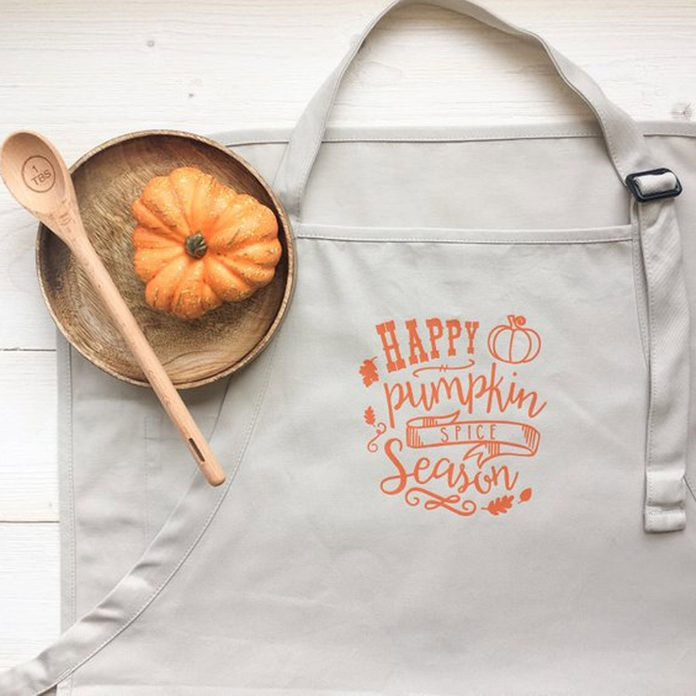 pumpkin spice baking apron