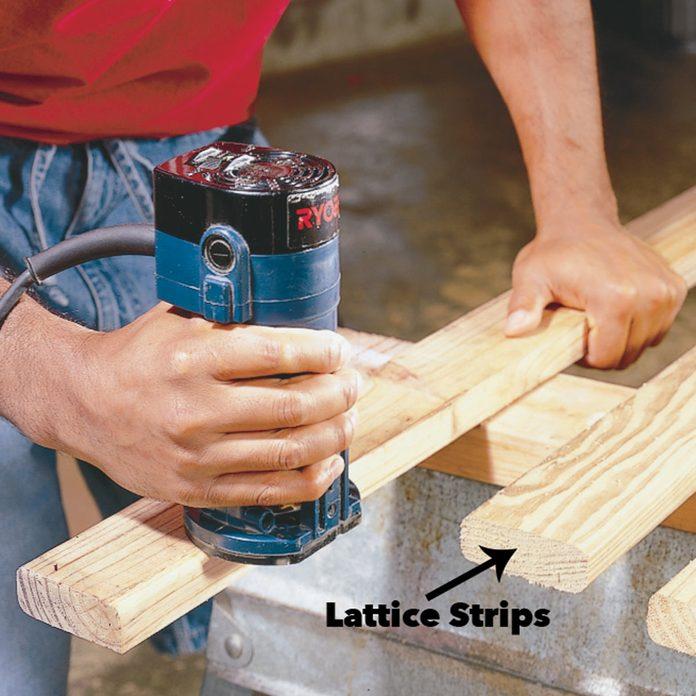 make lattice strips pergola