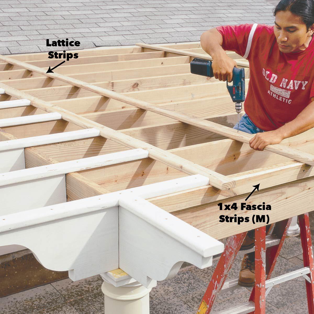 attach lattice pergola