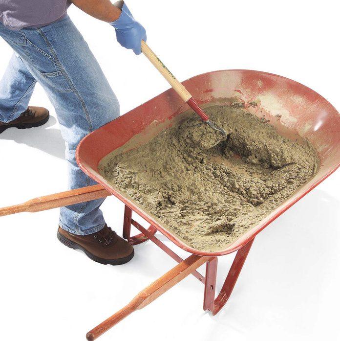 mixing concrete technique