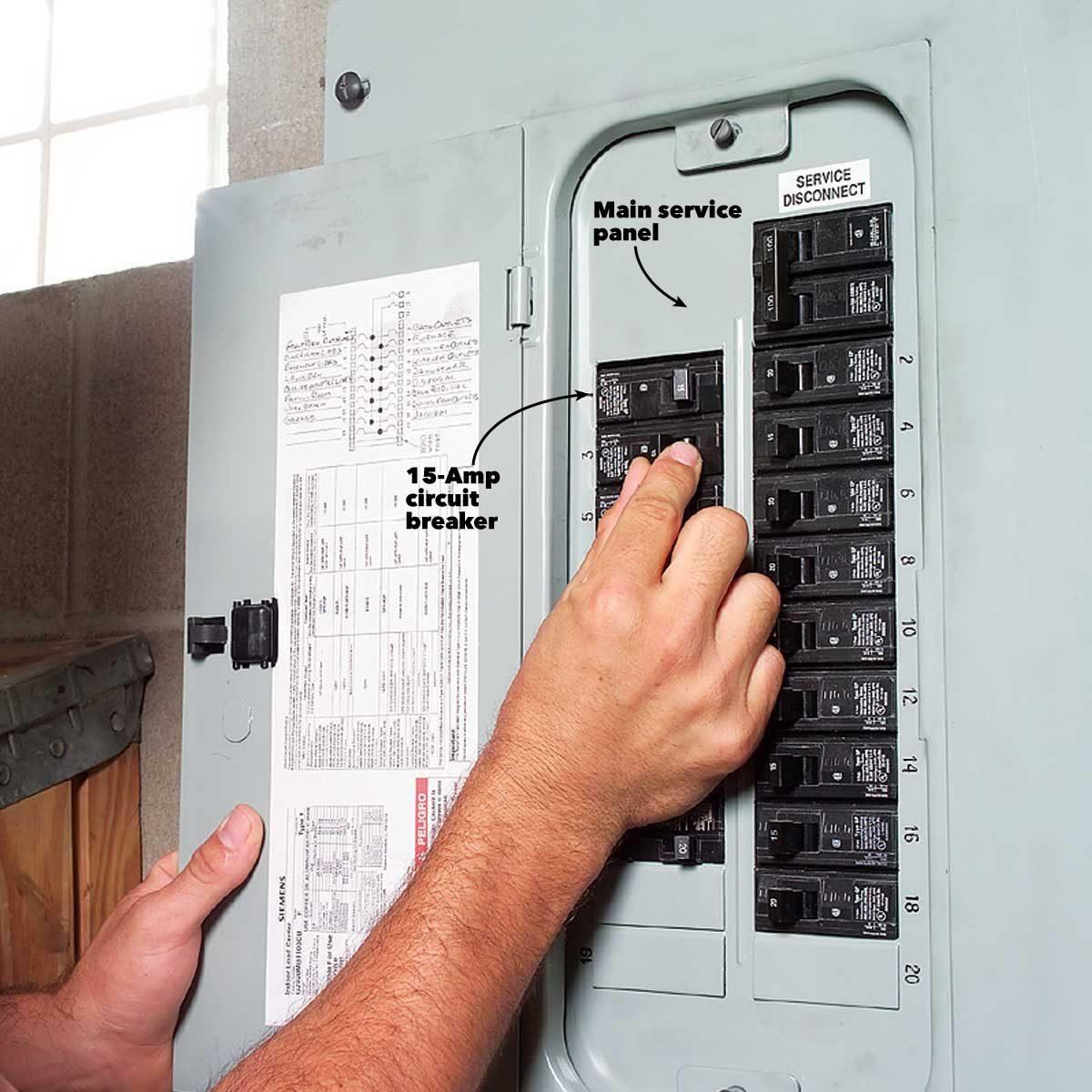 under lighting circuit breaker