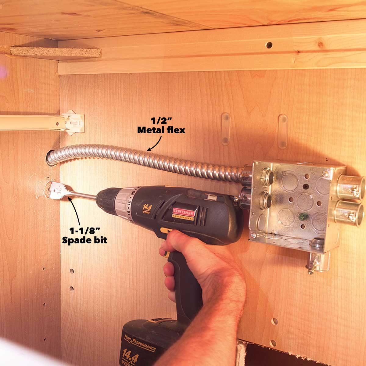 under light drill holes