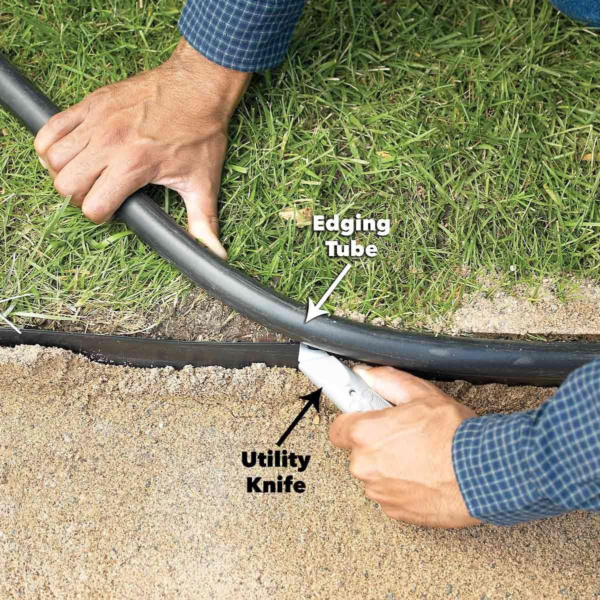 trim edging tube