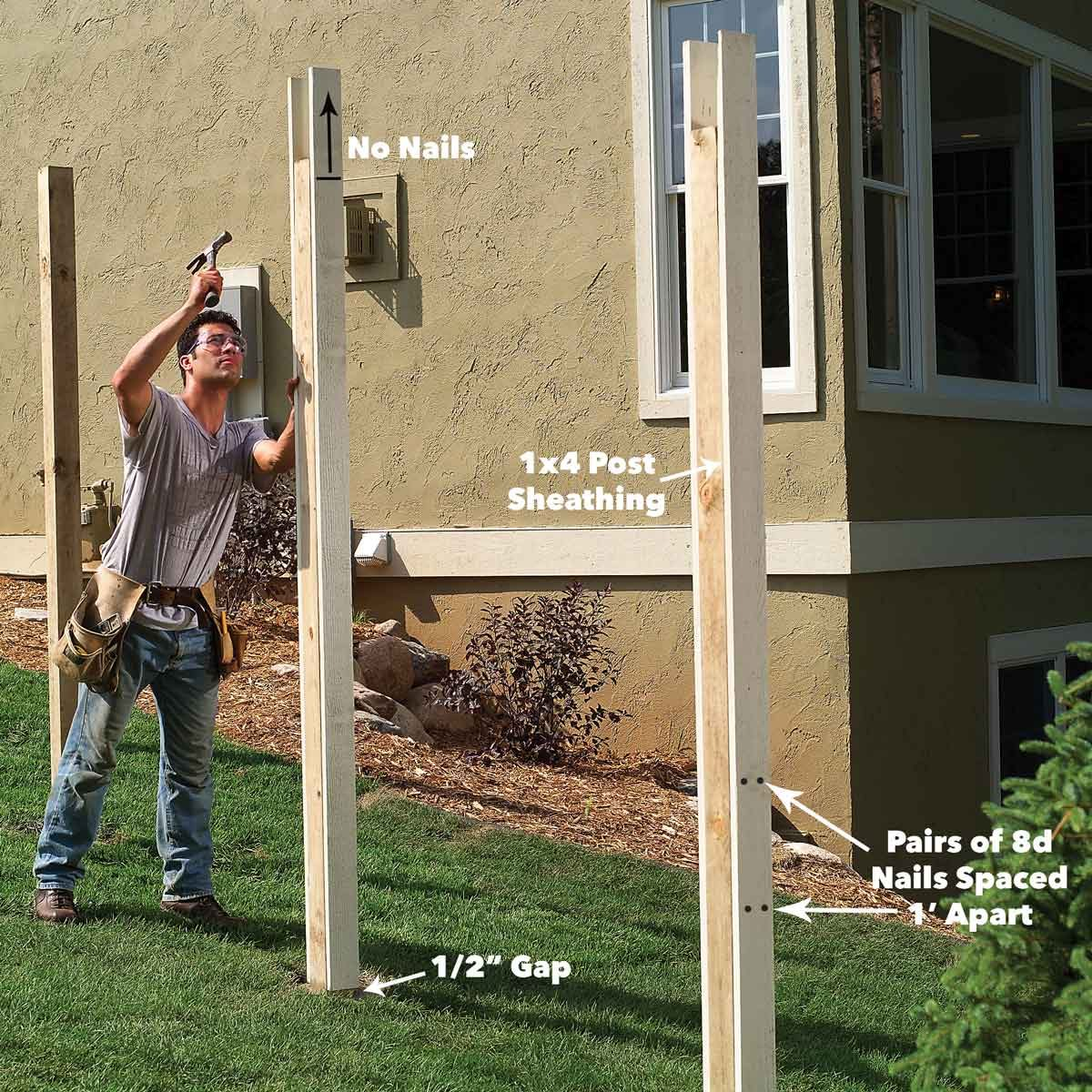 install fence posts 1x4 covers
