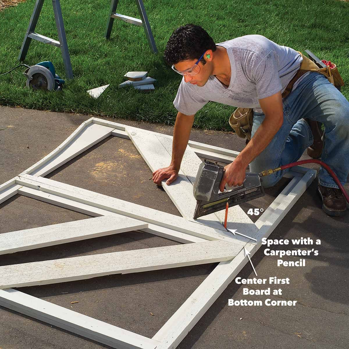 fence gate panel boards