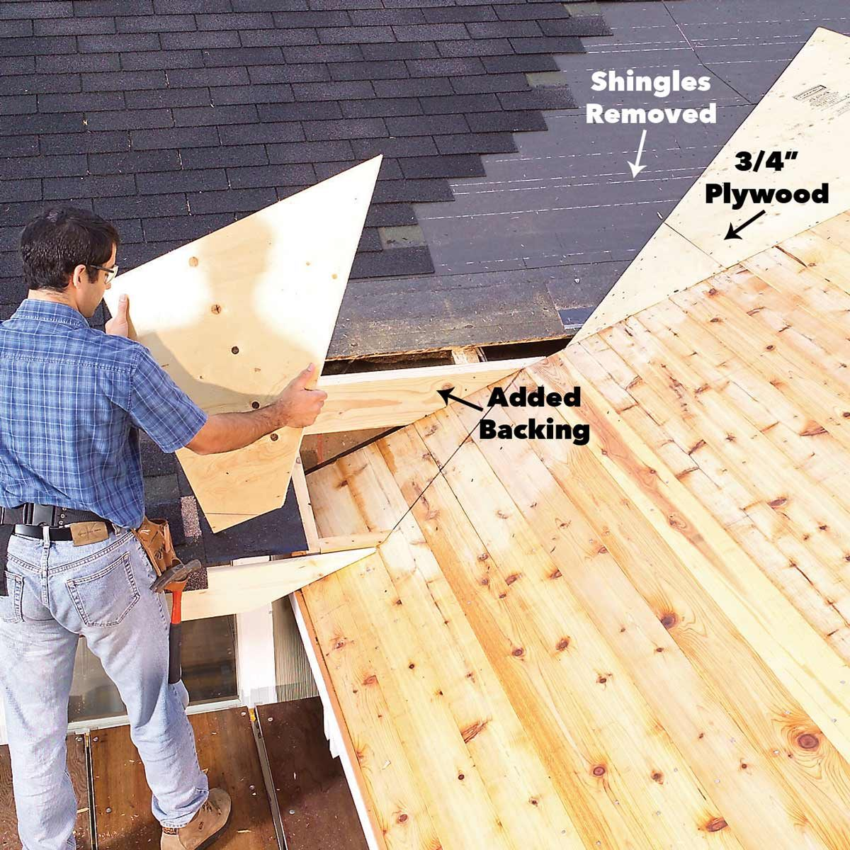 plywood porch roof framing