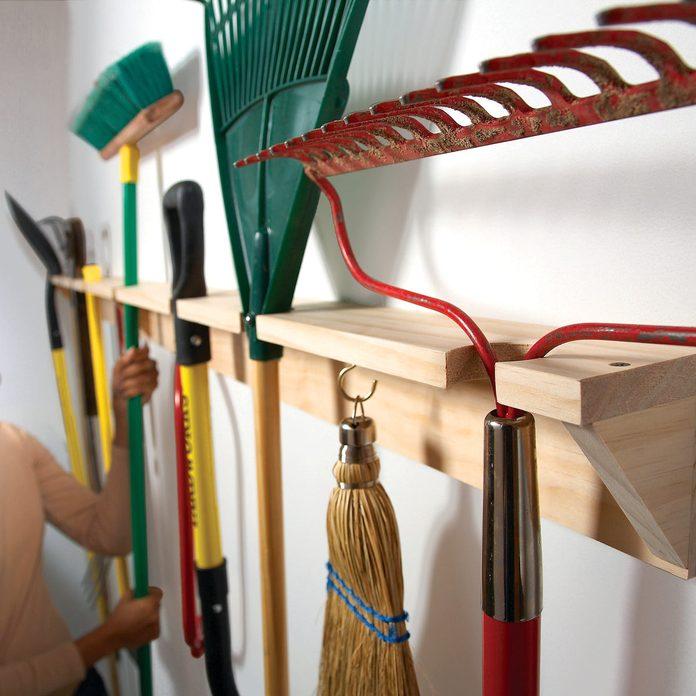 yard tool organizer long handled tools