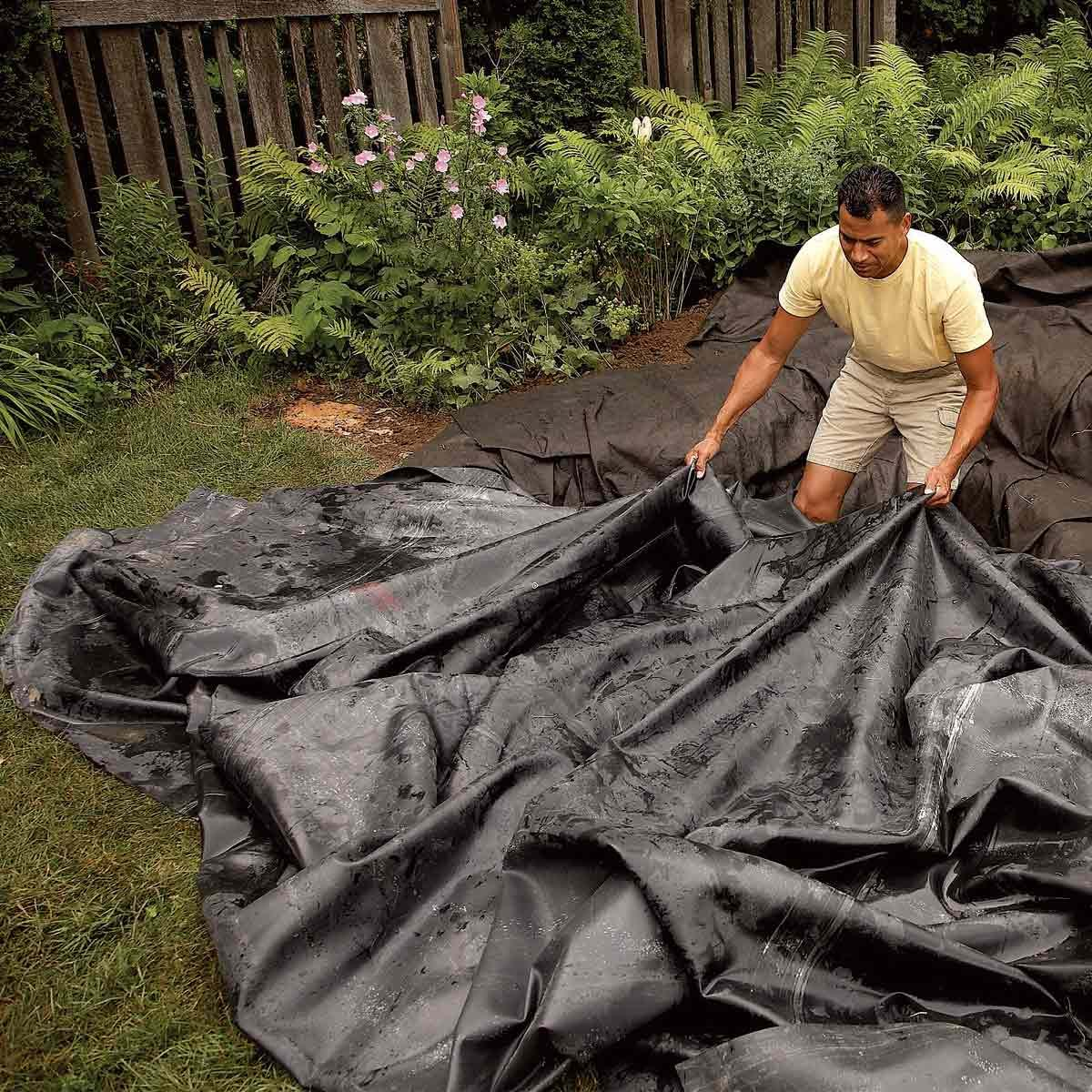 backyard fish pond liner