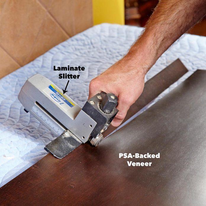 Cut Cabinet Veneer Sheets into Strips