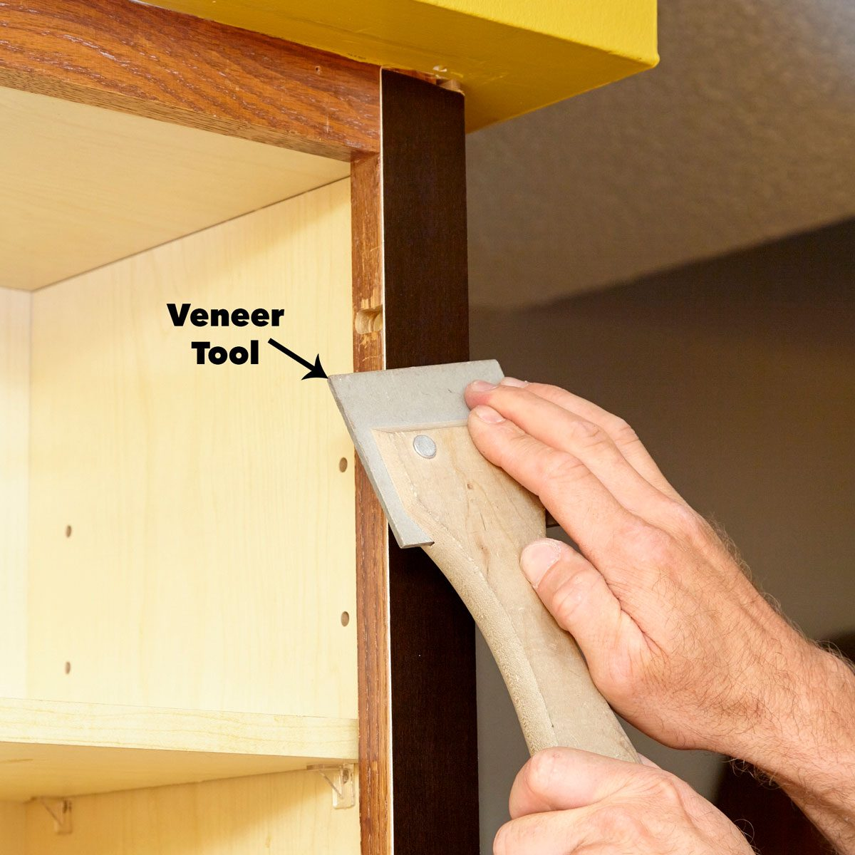 press the veneer cabinet door refacing