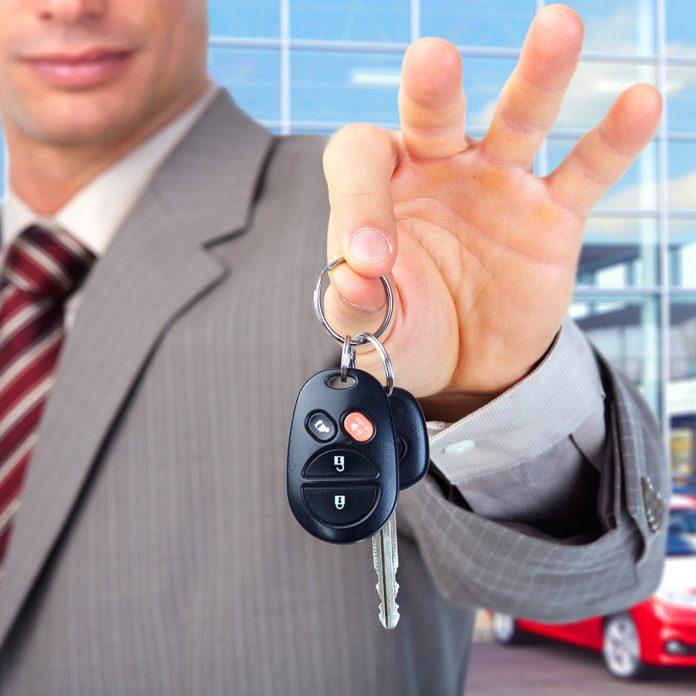 car leasing car keys
