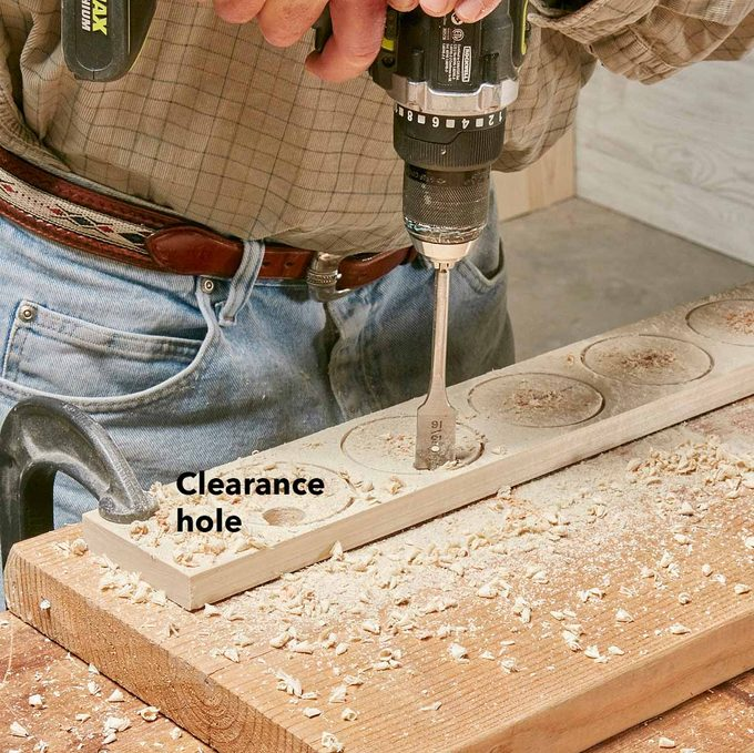drill clearance hole saw