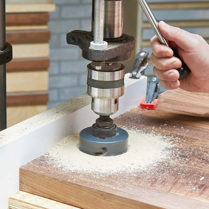 hole saw drill press