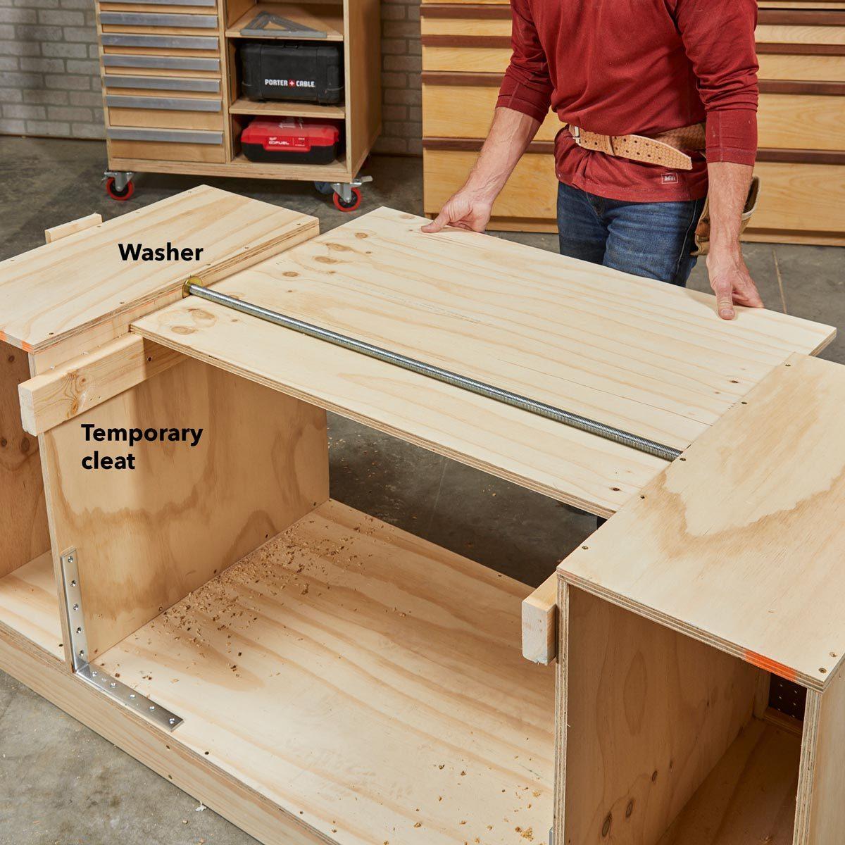 flip top workbench