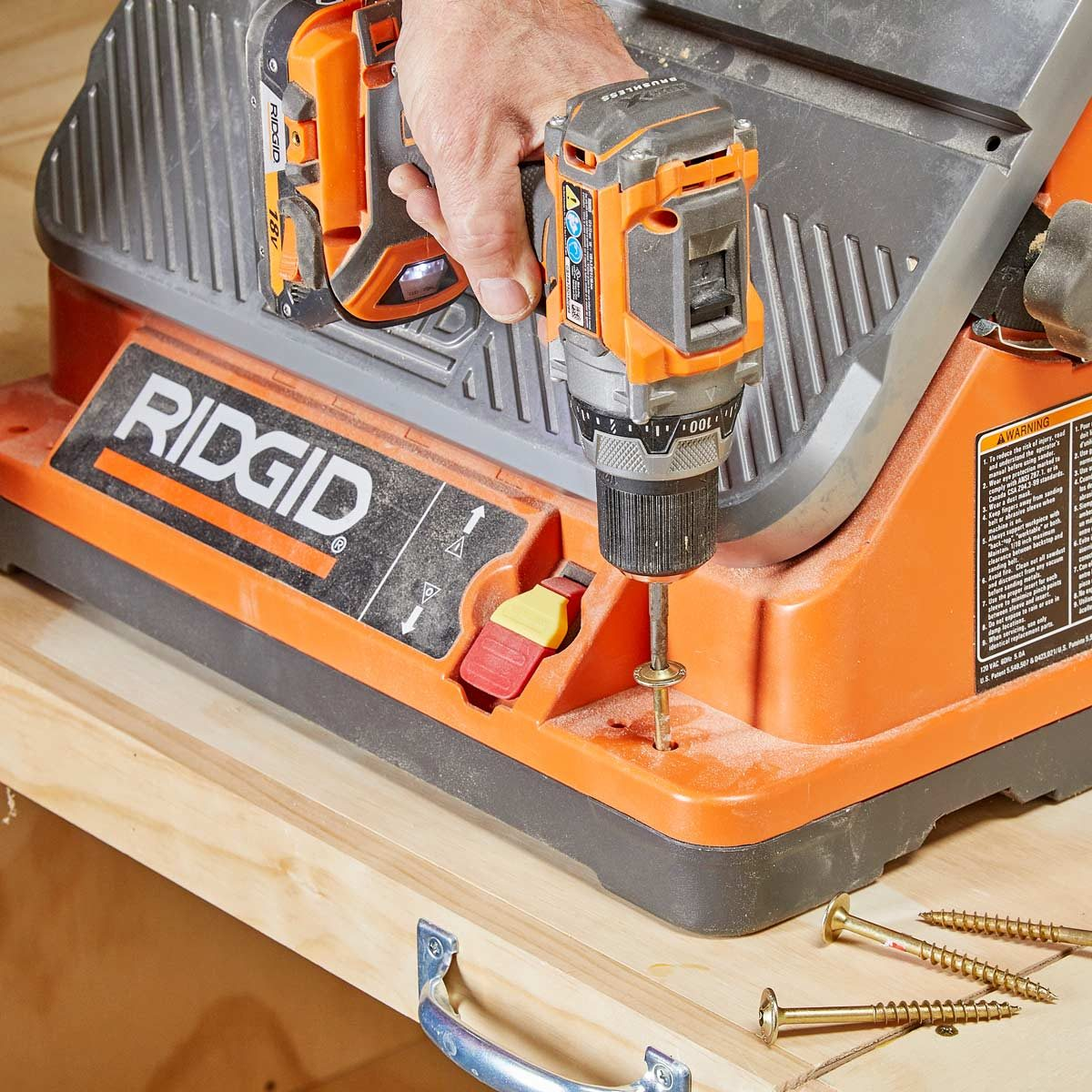 secure tools to flip top bench