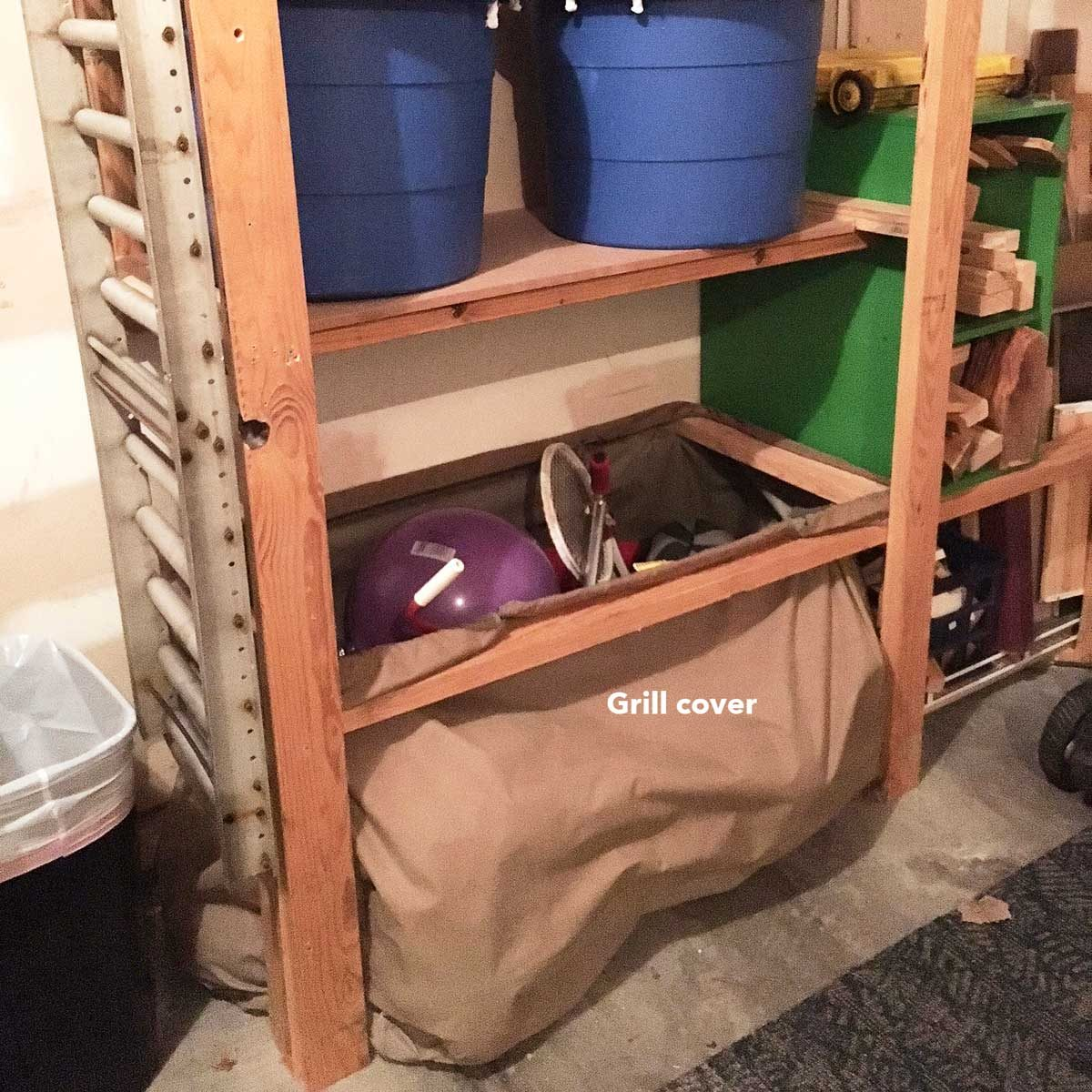 garage shelf bag grill cover storage