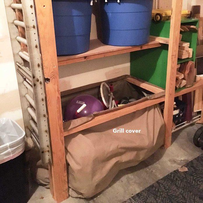 garage shelf bag grill cover storage