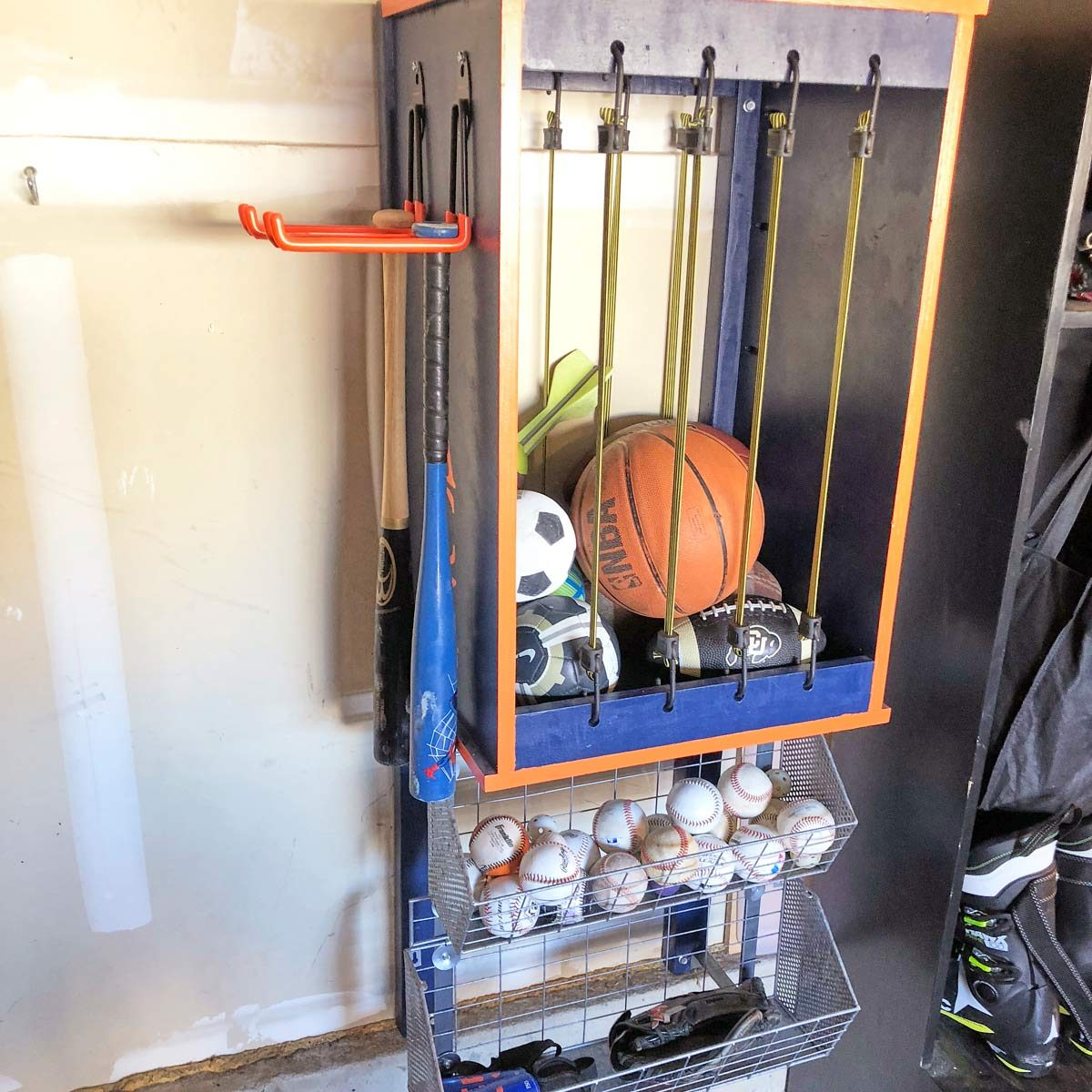 ball storage garage organization