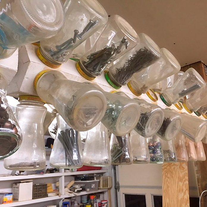 rotating small-parts organizer garage organization