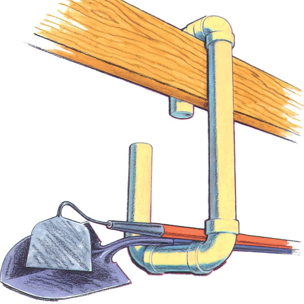 PVC garden tool storage hooks