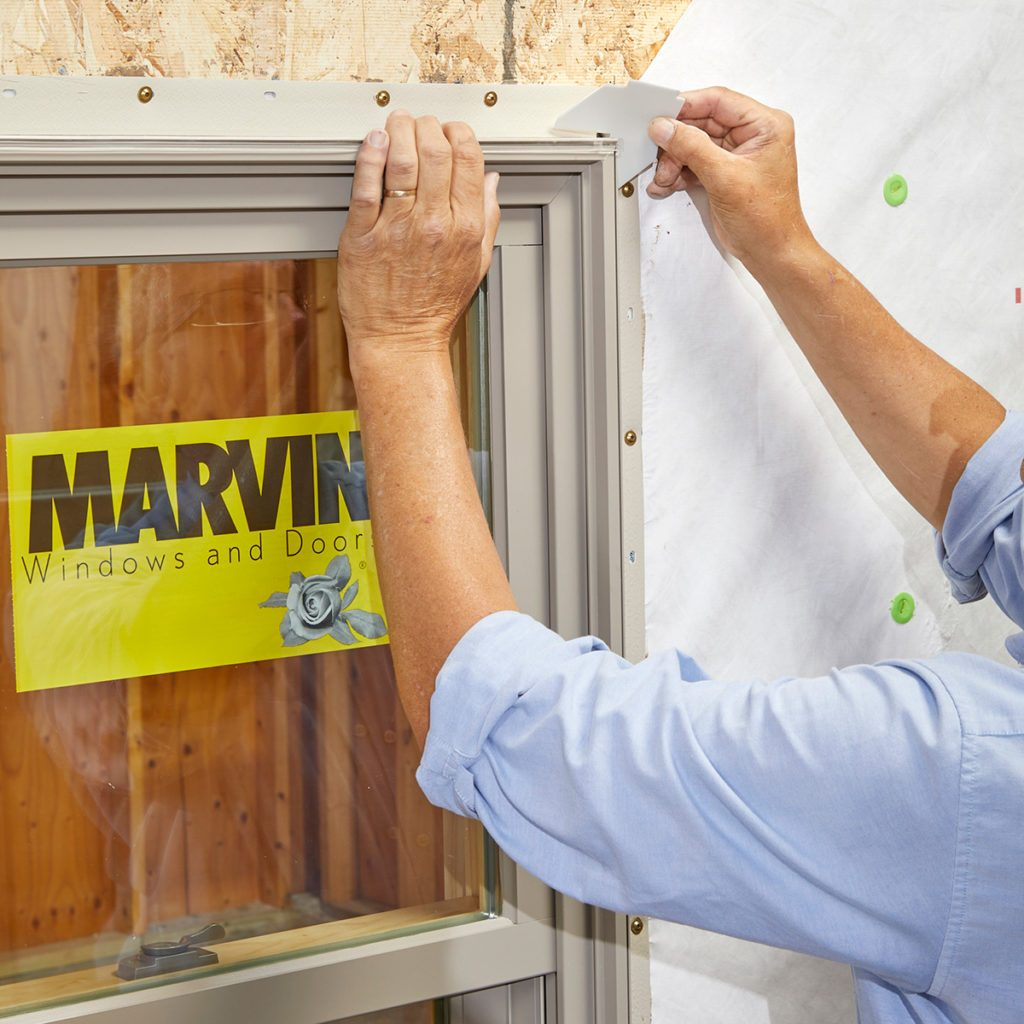 Adding corner gaskets during a window install   Construction Pro Tips