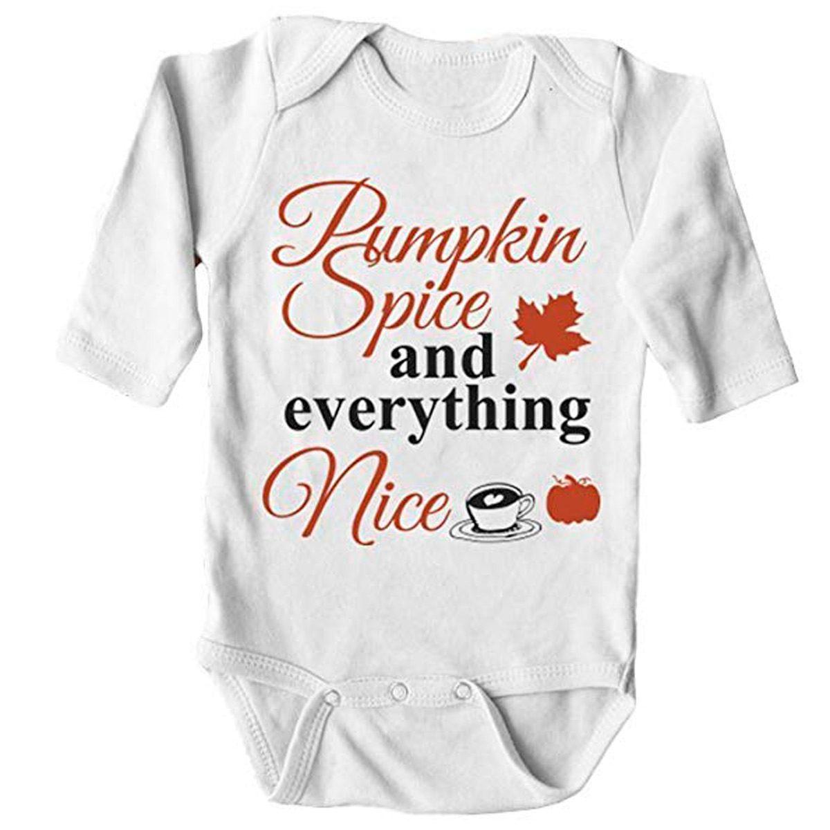 pumpkin spice baby onesie