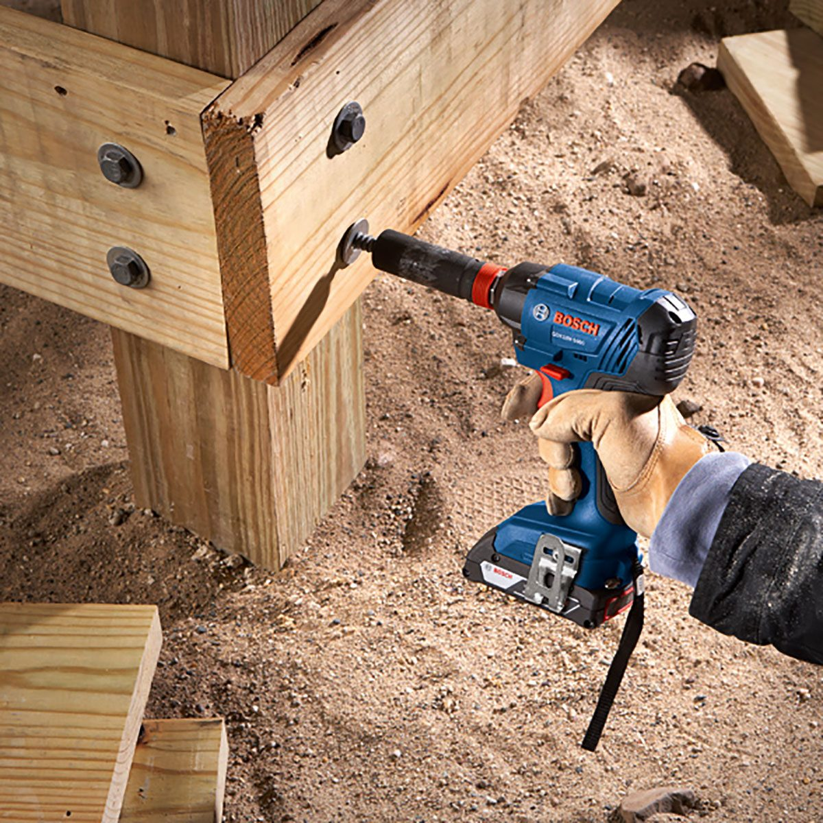 Using a Bosch 2-in-1 Driver to tighten a bolt | Construction Pro Tips