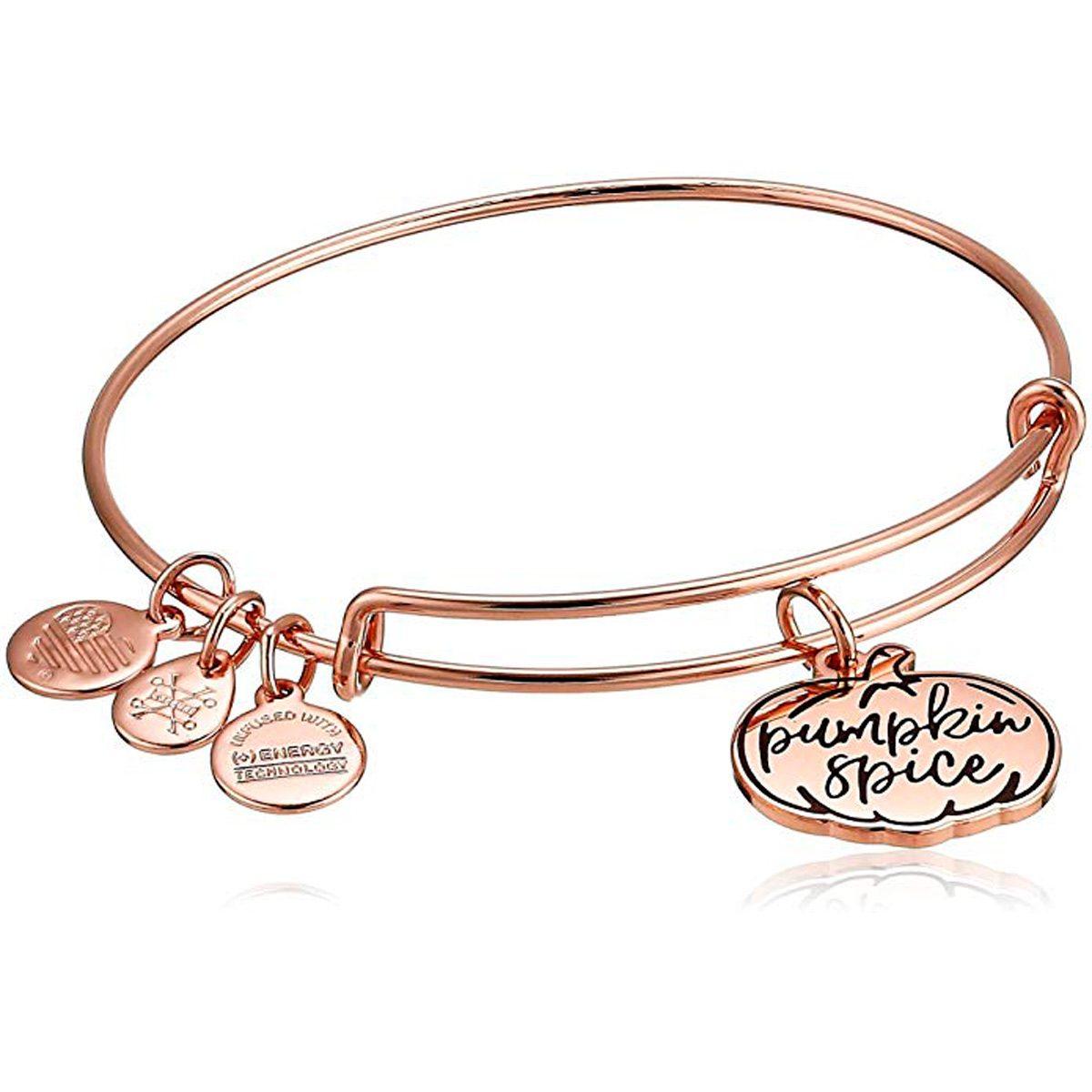pumpkin spice bangle bracelet