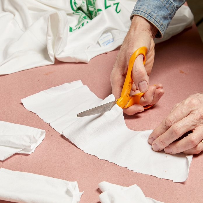 Cut up old t-shirts   Construction Pro Tips
