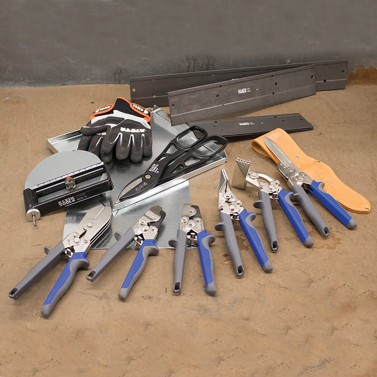 An assortment of metal cutting tools from Klein Tools | Construction Pro Tips