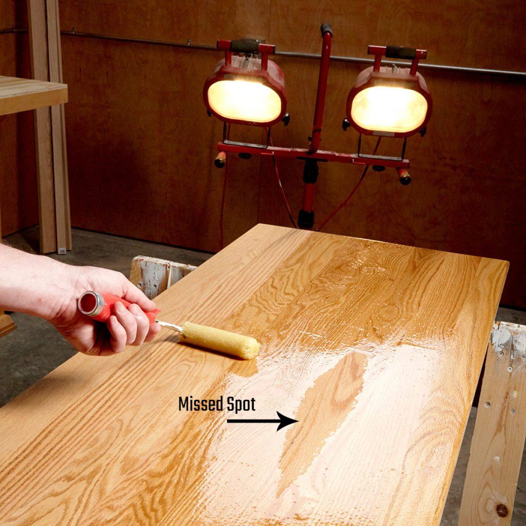 Bright lights exposing missed spots | Construction Pro Tips